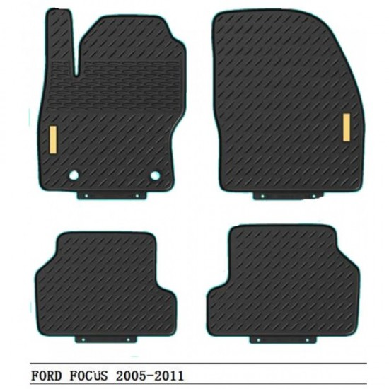 Gumene  patosnice  Ford  Focus od 2005 do 2011 - Tipske gumene patosnice (najpovoljnije cene www.silverauto.rs)