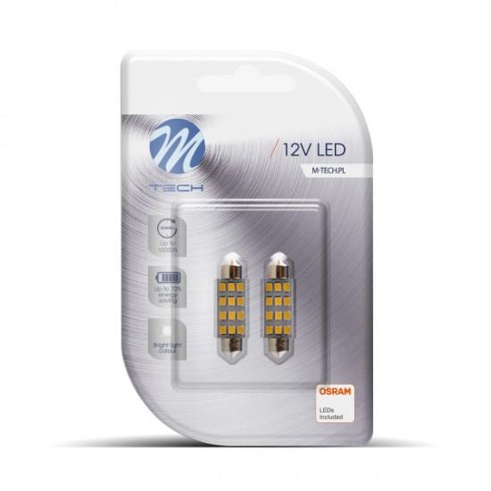 Auto sijalica Led  LB030w M-tech /cena za par sijalica/ - Led sijalice (najpovoljnije cene www.silverauto.rs)