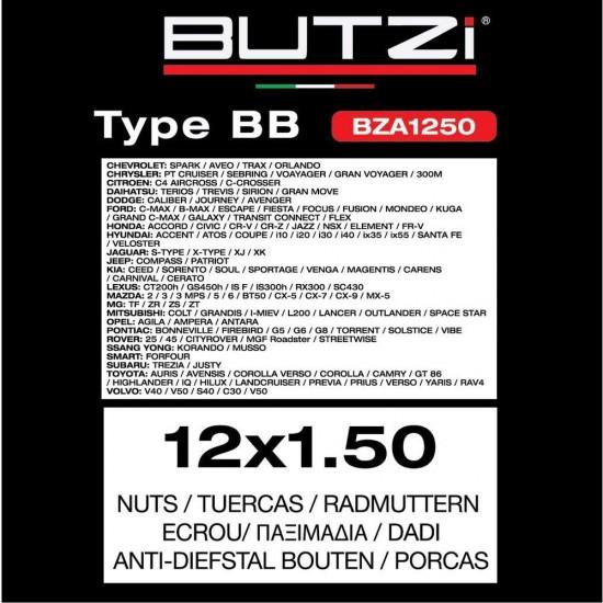 Sigurnosni šrafovi BZA1250 - Sigurnosni šrafovi (najpovoljnije cene www.silverauto.rs)
