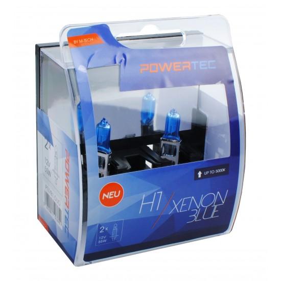 Auto sijalica Powertec Xenon Blue H1  12V /cena za par sijalica/ - Powertec Xenon Blue (najpovoljnije cene www.silverauto.rs)