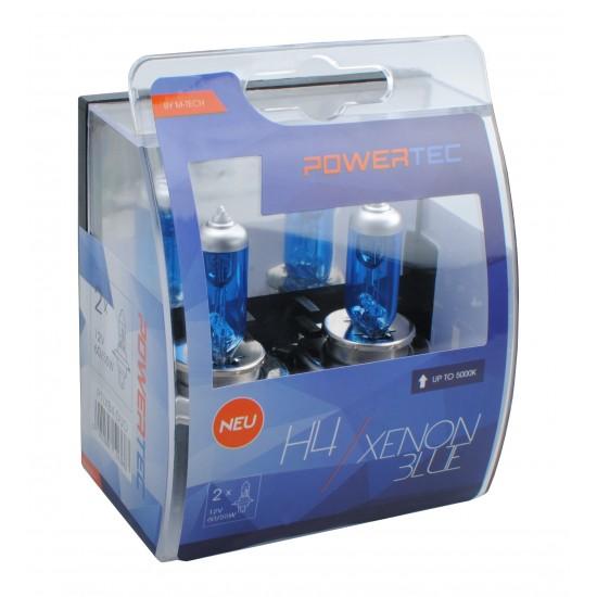 Auto sijalica Powertec Xenon Blue H4 12V /cena za par sijalica/ - Powertec Xenon Blue (najpovoljnije cene www.silverauto.rs)
