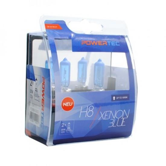 Auto sijalica Powertec Xenon Blue H8 /cena za par sijalica/ - Powertec Xenon Blue (najpovoljnije cene www.silverauto.rs)