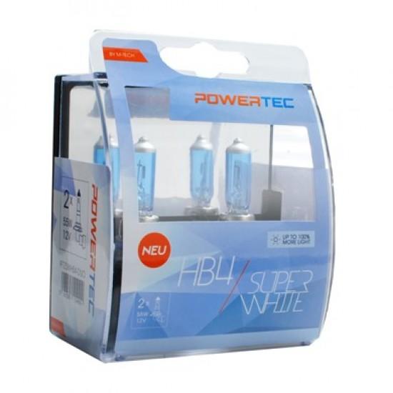 Auto sijalica Powertec Superwhite HB4 /cena za par sijalica/ - Powertec Super White (najpovoljnije cene www.silverauto.rs)