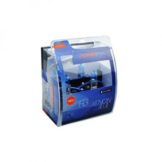 Auto sjalica Powertec Xenon Blue H3 /cena za par sijalica/ - Powertec Xenon Blue (najpovoljnije cene www.silverauto.rs)