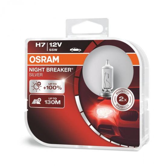 Auto sijalica Osram 12V H7 Night Breaker Silver - Osram sijalice (najpovoljnije cene www.silverauto.rs)