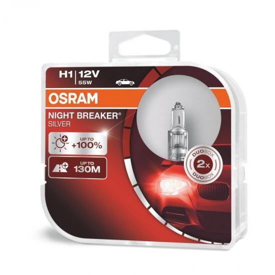 Auto sijalica Osram 12V H1 Night Breaker Silver - Osram sijalice (najpovoljnije cene www.silverauto.rs)